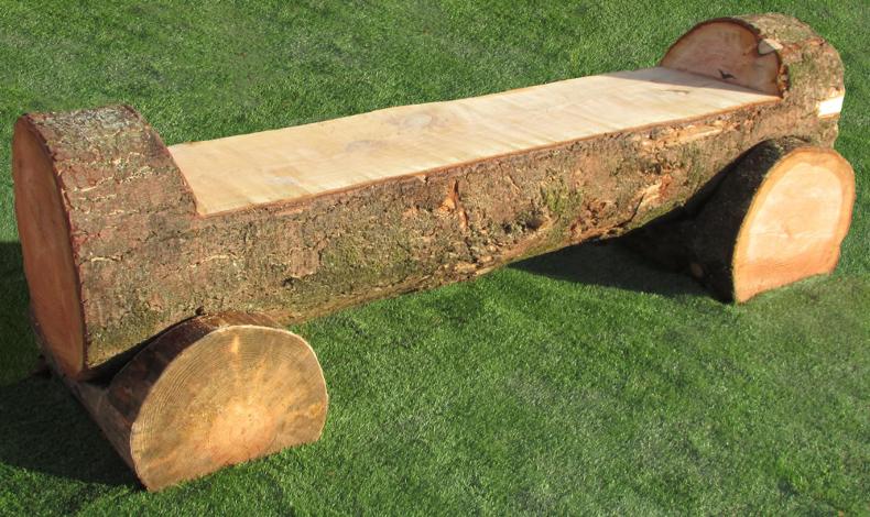 Tree Trunk Bench | Natural Amenities | A E Evans |